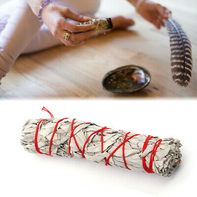 """5"""" White Sage Smudge Stick Wands For House Cleansing Negativity Removal"""