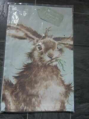 Wrendale Hare Tea Towel - New And Sealed In Packet