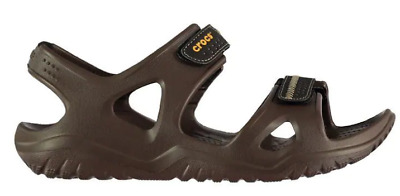 Crocs Swiftwater Sandals Mens Brown Size UK 10 US 12 EU 43/44 *Ref2