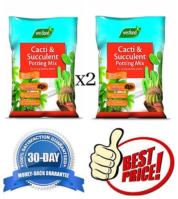 2x4L Westland Cacti and Succulent Potting Compost Mix Enriched with Seramis 2x4L
