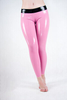 Latex Trousers Rubber Gummi Female Pants Sexy Party Wear Pink Customized 0.4mm