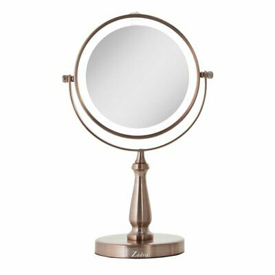 Next Generation Two-Sided LED Lighted Swivel Makeup/Shaving Mirror - Rose Gold