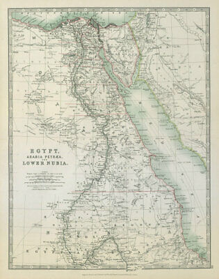 EGYPT ARABIA PETRAEA LOWER NUBIA. Nile Valley Red Sea Sharm El Sheikh 1915 map