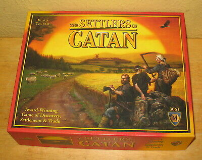Klaus Teuber's The Settlers of Catan 3061 Board Game NEW IN OPEN BOX