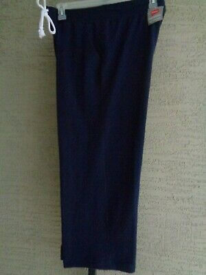 Hanes Large  Capris  Cotton Blend  Soft French Terry inside  With Pockete Navy