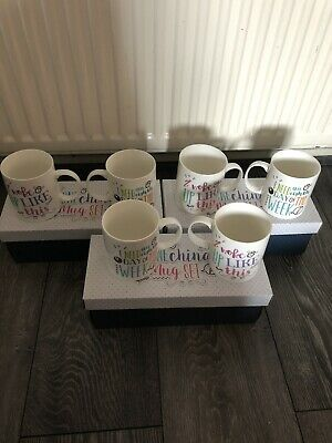 Job Lot Of 3 Pairs Of Brand New Mugs Wholesale