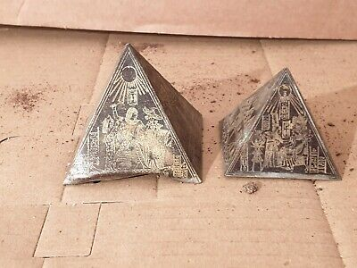Scarce Antique Ancient Egyptian 2 Pyramids king hunt ducks on throne 1345BC