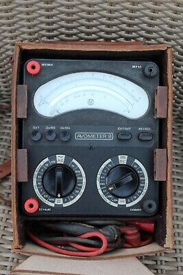 Avo Avometer 8 Cased With Instruction Booklet
