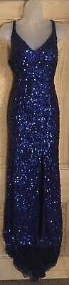 Vintage 80's Glitz Ballgown Evening Dress Train Plus Size 16/18