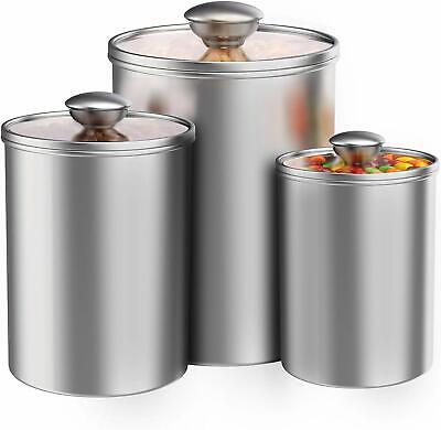 AIRTIGHT CANISTERS SET for the Kitchen Counter,3Pcs ...