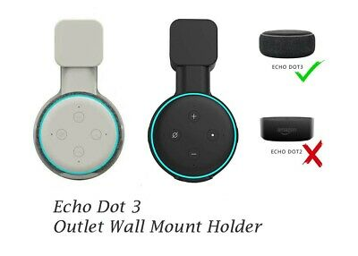 Outlet Wall Mount Holder Stand Hanger Socket For Amazon Echo Dot 3rd Gen Speaker