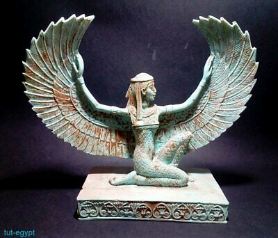 RARE ANTIQUE ANCIENT EGYPTIAN Statue Goddess Isis Winged  stone ( 1460-1350 BC)
