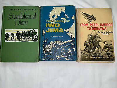 Lot Of 3 Landmark Historical Books Iwo Jima Pearl Harbor Guadalcanal Homeschool