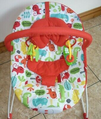 Baby Bouncer Chair with Music Vibrate Toy Bar & Head Hugger
