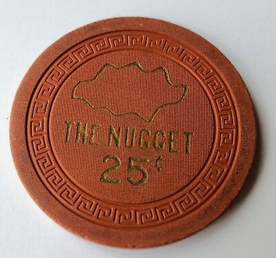 .25 Sparks The Nugget Casino Chip - Near Mint