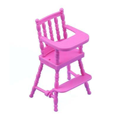 Portable Pink Child Dining Chair Toys for Girls Doll House Furniture