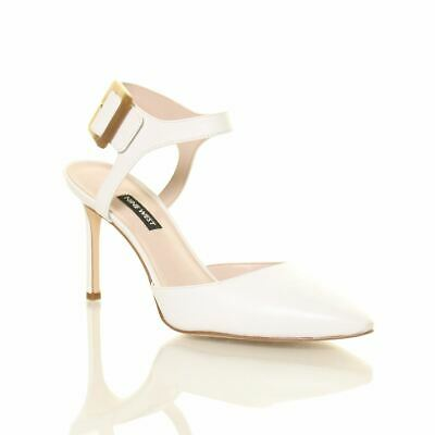 NINE WEST WOMENS Elisabeti Solid Ankle Strap Pointed Toe