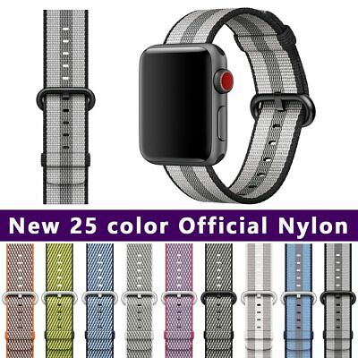Pulsera para apple watch 44mm band series 5 4 3 2 1 correa de nailon tejida