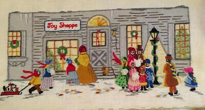 1979 CHRISTMAS TOY SHOPPE National Paragon 6431 Needlepoint Crewel Complete WOW