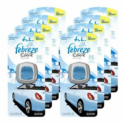 Febreze 2 amL (0.06 FL OZ) Car Vent Clips Air Freshener and Odor Eliminator,