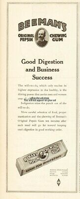 1920 Beemans Pepsin Chewing Gum American Chicle Co Good Digestion Business ad
