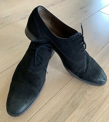As New $229 Portugal Suede MENS SABA Leather SHOES Derby Lace Up 45 AU 11 Aquila