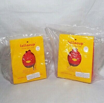 NEW Lollacup - Infant and Toddler Straw Sippy Cup Red X2 Cups!