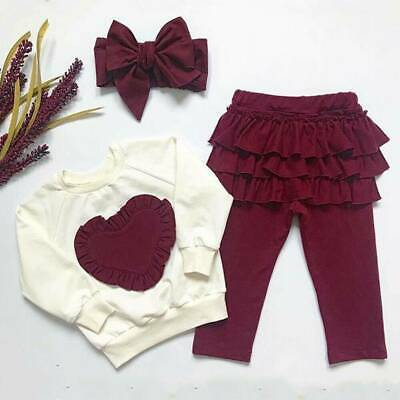 Birthday Toddler Kids Baby Girl Infant Outfits Tops Pants Tracksuit Clothes Set