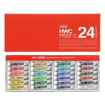 Holbein Artists Watercolor W405 24 Colors Set 5ml Tubes
