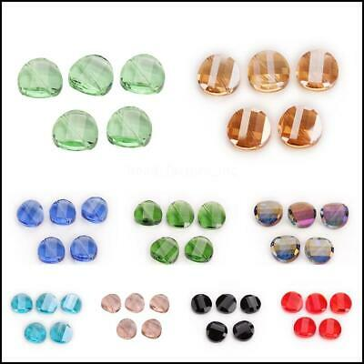 18mm 20pcs Twist Tile Crystal Wholesale Glass  New Faceted Spacer  Beads