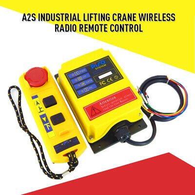 Industrial Lifting Crane Wireless Radio Remote Control Receiver Transmitter A2S