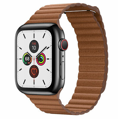 Genuine Leather Loop Magnetic Watch Band For Apple Watch Series1 2 3 4 5 40/44MM