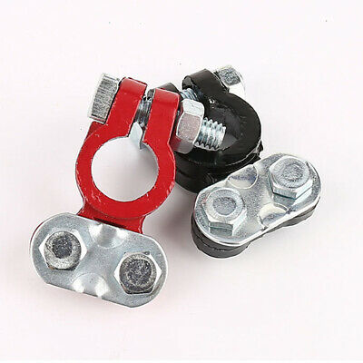 2pc Car Battery Terminal Clamp Clips Disconnect Switch Screw Connector Link Tool