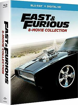 Fast and Furious: 8-Movie Collection (Blu-ray Disc, 2017, 9-Disc Set)