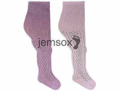 Pelerine Patterned Girls UK Made Tights LILAC/MAUVE  2-3 3-4 4-5 Years - 3 Pairs