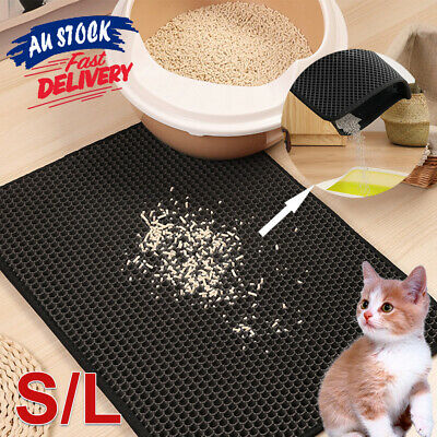 Design Honeycomb Double Layer Cat Pad Waterproof Trapping Mat Litter Kitty ACB#