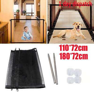 ✔Retractable Pet Dog Gate Safety Guard Folding Baby Toddler Stair Isolation UK✔