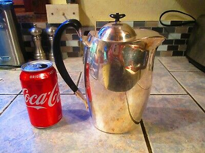 Vintage Achievement Community Silverplate Pitcher-Hinged Lid,Ice Lip-NICE!