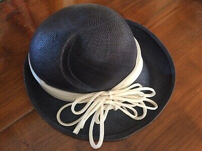 Women's Vintage Toquilla Straw hat 1950s/early 1960s