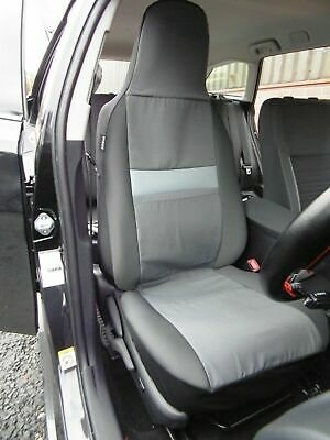 VOLVO V40 Leather Look CAMBRIDGE Grey//Black FRONT Car Seat Covers