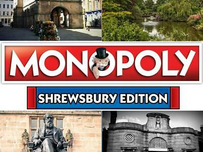 Shrewsbury Edition Monopoly Property Trading Board Game