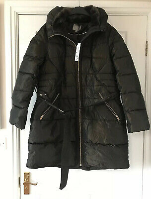 New Next Shower Resistant  Brown  Belted Padded  Coat Size 20  bnwt   £78