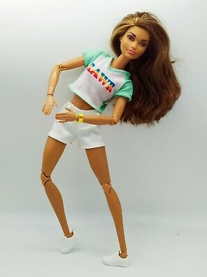 Barbie Made to Move Skateboarder Doll Ultra Flexible Articulated Body - mint