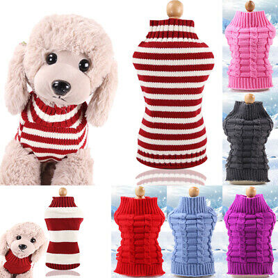 Pet Dog Cute Sweater Clothes Puppy Cat Knitwear Knit Coat Winter Warm Jumper Hot
