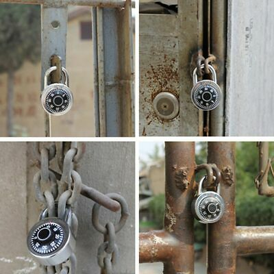 Padlock Alloy Rotary Coded Lock Luggage Suitcase Round Number Security Password