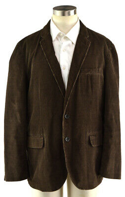 J.CREW Brown Corduroy Sport Coat Blazer Jacket ~ Men's XL