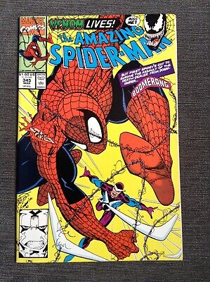 Marvel The Amazing Spider-man #345 Comic Book 1991 2nd Cletus Cassidy Carnage