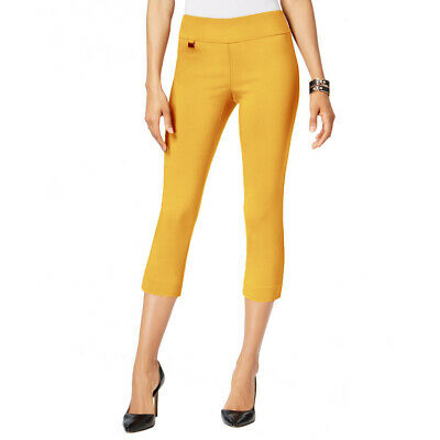 ALFANI NEW Women's Tummy-control Pull-on Capri Cropped Pants TEDO