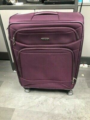 Samsonite Softside 2-Piece Travel Luggage Suitcase Set, Purple