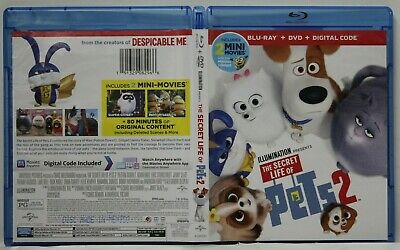 The Secret Life of Pets Two (Blu-Ray/DVD, 2019) FREE Shipping Oswald NO Digital